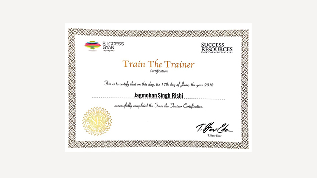 Train The Trainer 2018 Certification by T. Harv Ekar and Blair Singer